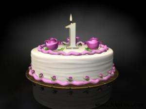 Birthday cake candle 1