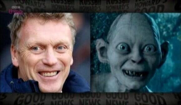 David Moyes before and after his spell at Man Utd.