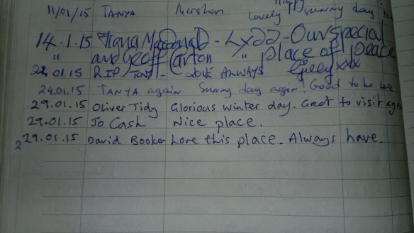 st R visitors book