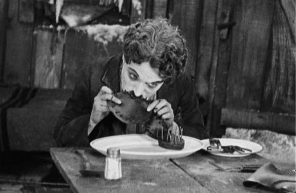 Chaz Chaplin in 'The Gold Rush'.